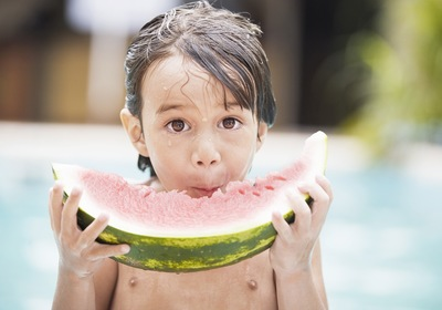 Celebrating National Watermelon Day by the Pool